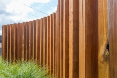 Timber fencing for gardens