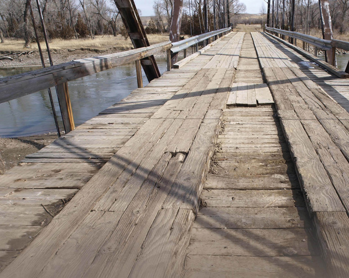 wood deck bridge. structural plywood bridge decking wood deck