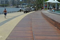 Outdoor decking commercial area