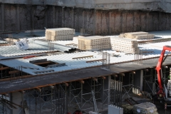 Formwork construction site