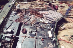 Aerial image of formwork in construction