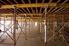 Construction under floor view