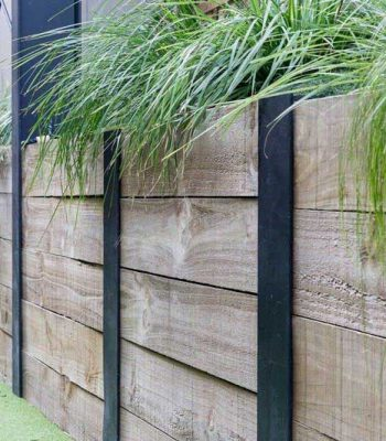 Timber Retaining Wall, Landscape Fencing
