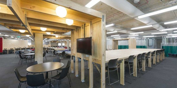 Timber building products in Macquarie uni library project