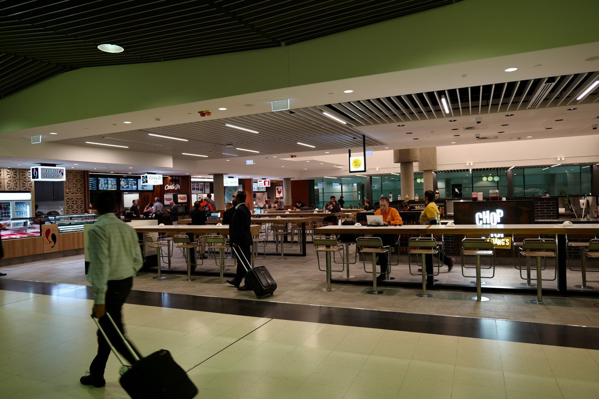 Brisbane airport terminal spotted gum