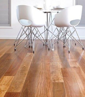 Big River timber floor in modern kitchen
