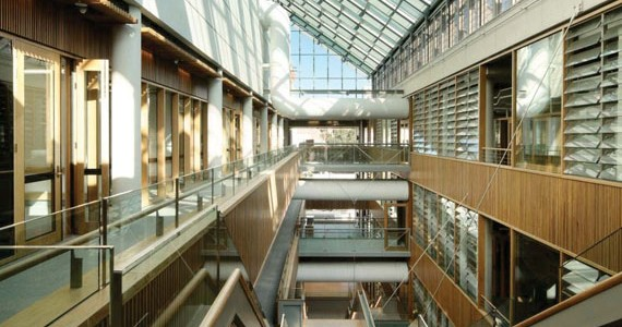 The University of Queensland's AEB building Atrium