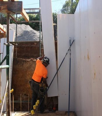 installing wall