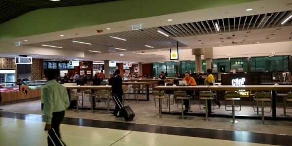 Brisbane airport terminal spotted gum Engineered Timber