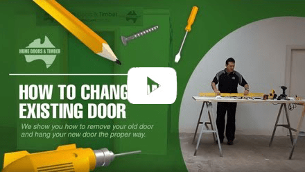 How to change existing door