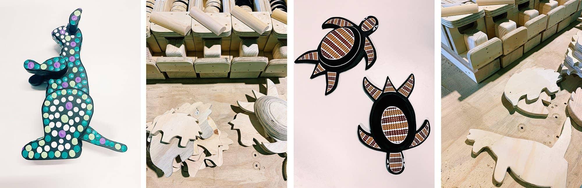Painted turtle and kangaroo